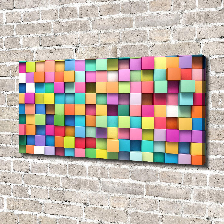 Leinwandbild Kunst-Druck 140x70 Bilder Sonstige Bunte Quadrate