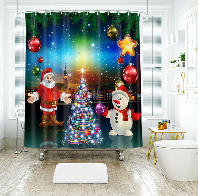 Curtains, Drapes & Valances Home & Garden 3d Weihnachtsmann 90 Duschvorhang Wasserdicht Faser Bad Daheim Windows Toilette