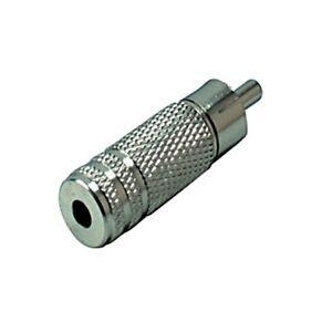 Audio-Adapter-3-5mm-Mono-Klinke-Kupplung-Buchse-weiblich-an-Cinch-Chinch-Stecker