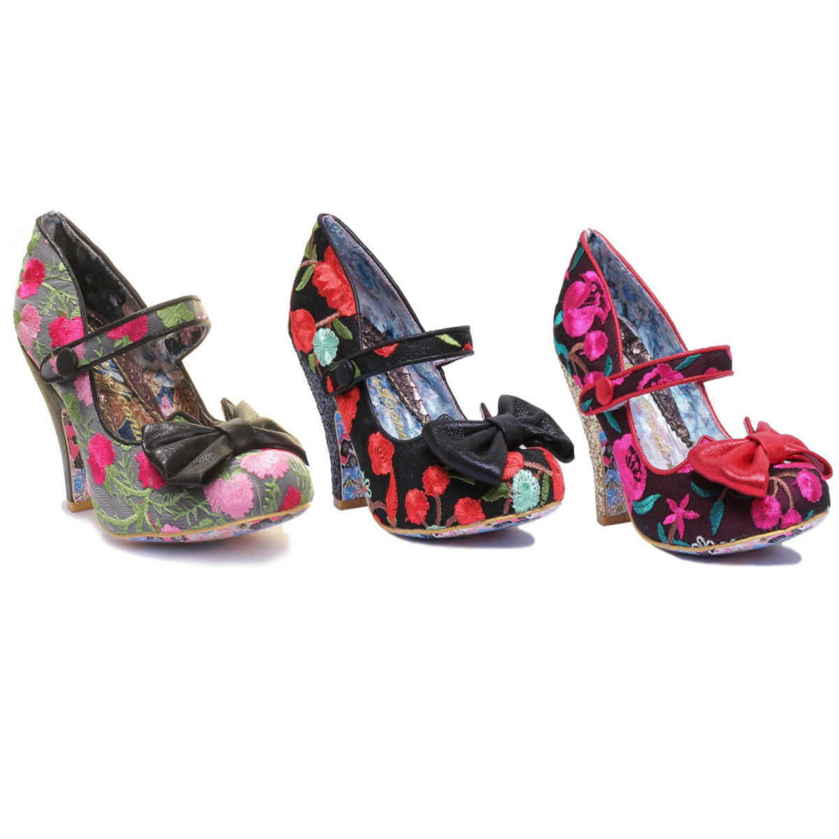 Irregular Choice Fancy This Womens Floral Print Closed Toe Heels Shoes Size UK 3