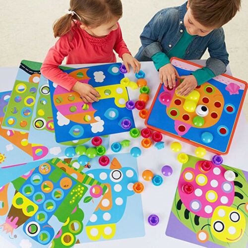 Color Matching Mosaic Pegboard Early Learning Educational Toys for Children
