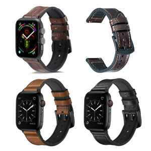 For Apple Watch Band Series 5 4 3 2 1 Rugged Hybrid Sports Leather Vintage Strap Ebay