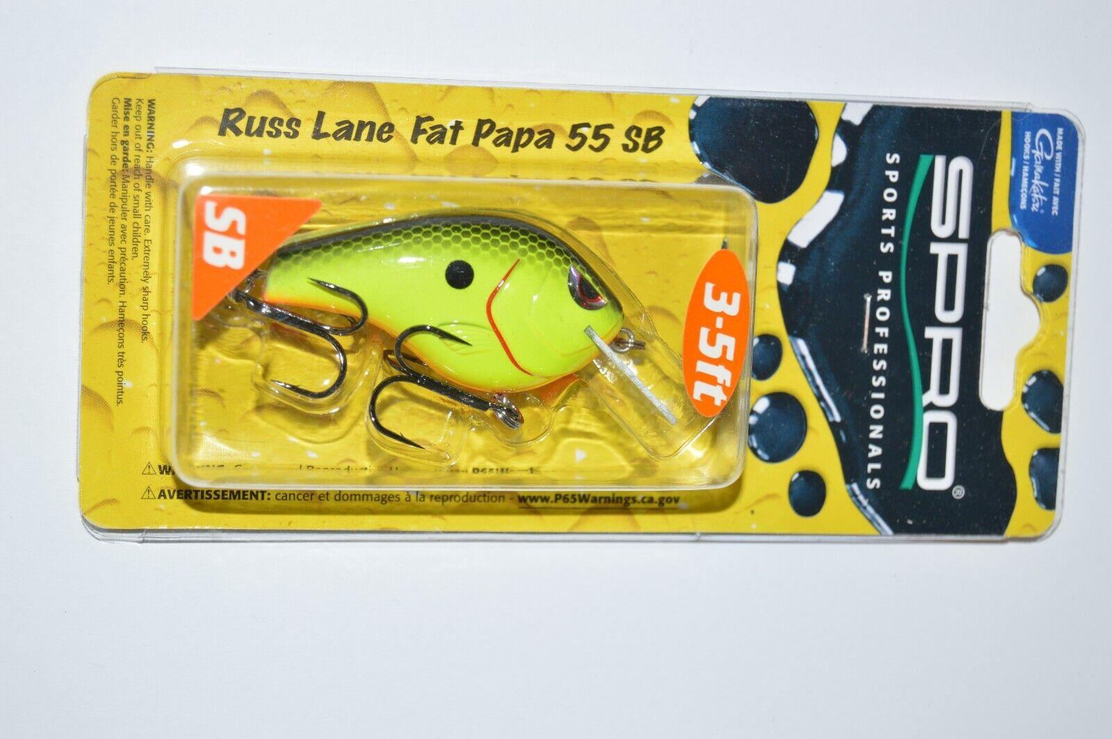 Choice of Colors SPRO Russ Lane Fat Papa 55 Crankbait