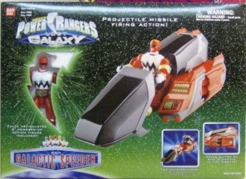 Power Rangers Lost Galaxy galactique bolide rouge RANGER Missile Tir Bandai Menthe en Boîte Scellée