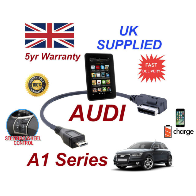 For AUDI A1 BLACKBERRY Q10 MICRO USB Audio Cable 4F0051510M integrated