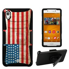Beyond Cell Shell Case Armor Kombo For Sony Xperia Z3V American Flag American...