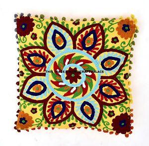 Suzani-Embroidery-Cushion-Cover-Indian-Cotton-Pillow-Case-Cover-Decor-Throw-16-034