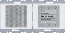 BERKER Radio Touch K1 polarweiß glänzend 28807009 up-Radiomodul+Lautsprecher