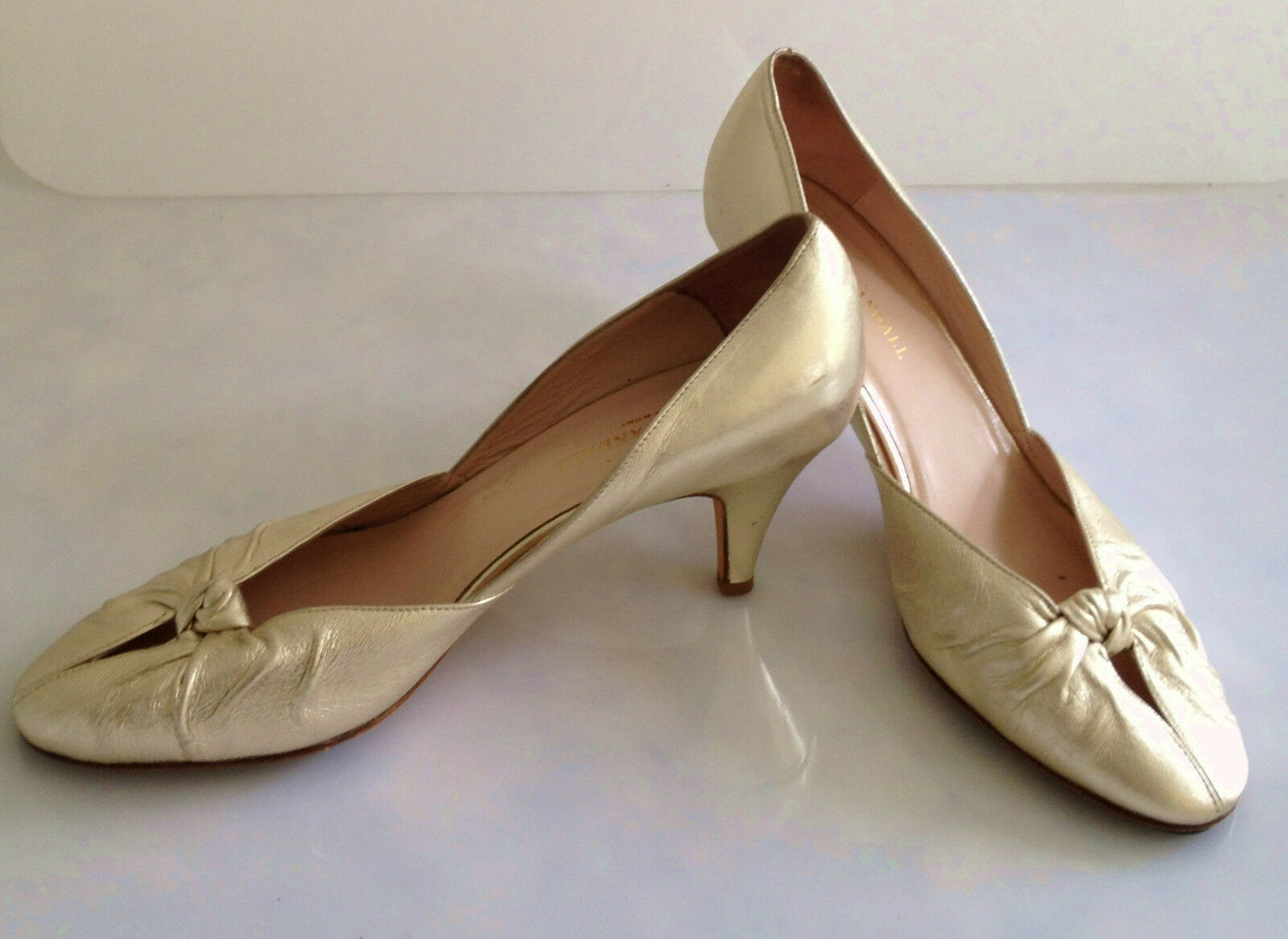 Loeffler Randall - Womens HEELS Metallic gold PUMPS - Size10.5 B