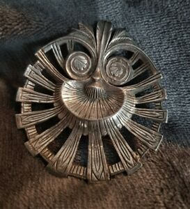 Vintage-Miracle-tribal-ethnic-statement-Brooch