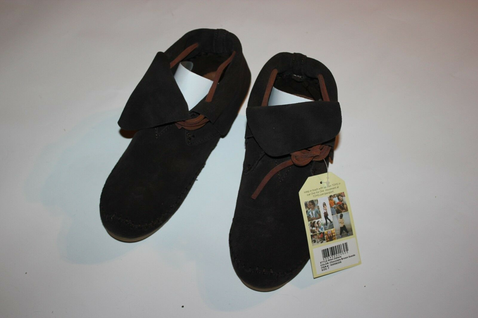 TOMS Chocolate Brown Suede Moccasin Fold Over  'Zahara' Bootie,   Women Size 7