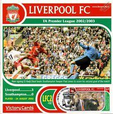 Liverpool 2002-03 Southampton (El Hadji Diouf) Football Stamp Victory Card #202