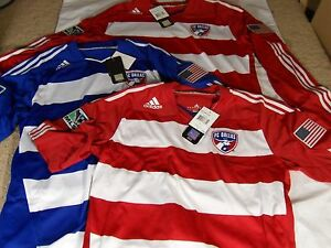 b9fc736f4 New Adidas Formotion FC Dallas Home Away SS   LS Authentic Soccer ...