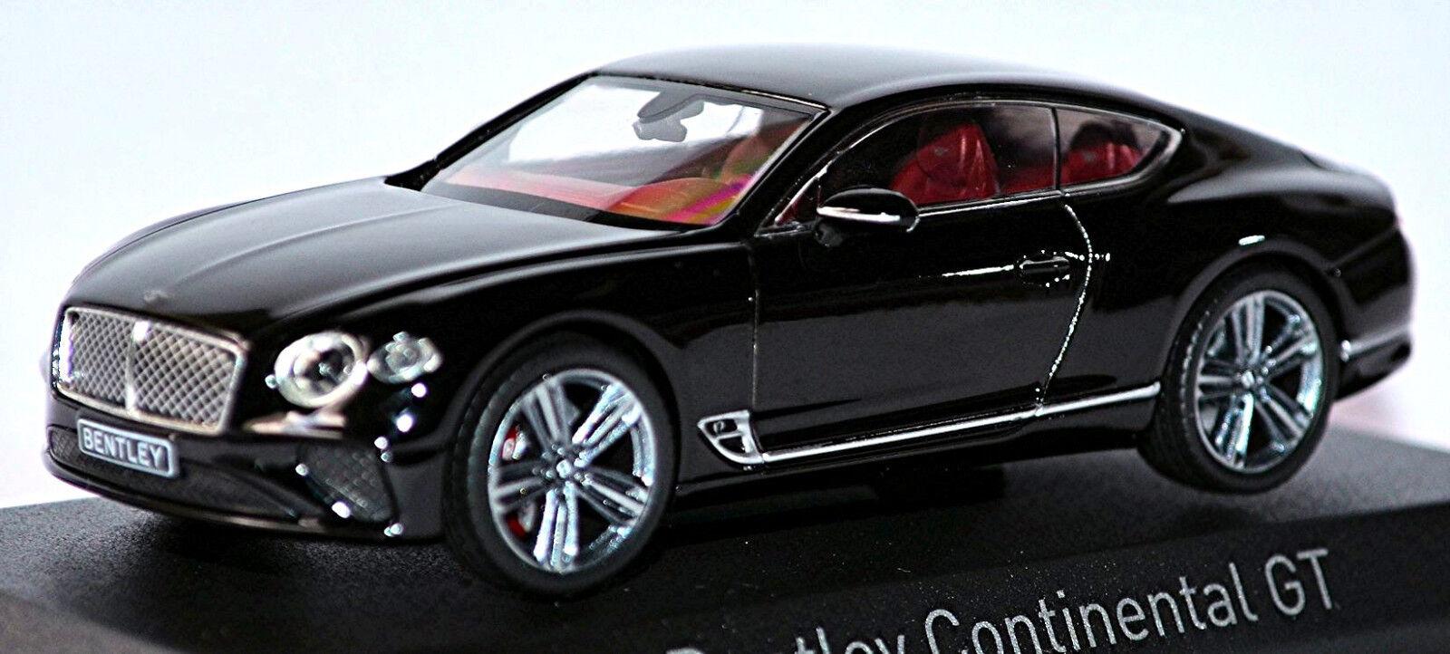 promociones de descuento Bentley Continental Continental Continental Gt Coupé 2018 Beluga Negro Negro 1 43 Norev  autentico en linea