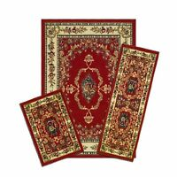 Achim Home Furnishings Capri 3-piece Rug Set, Savonnerie - Red , New, Free Shipp on Sale