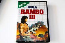 RAMBO 3 - SEGA MASTER SYSTEM - COMPLETE