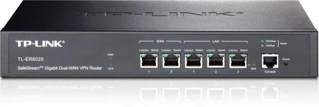 Tp-Link TL-ER6020 SafeStream Gigabit Dual-WAN VPN Router 2x Gigabit WAN ports