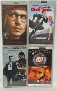 4-UMD-Movies-Sony-PSP-Playstation-Portable-Gone-in-60-Casino-Royale-Dick-Jane
