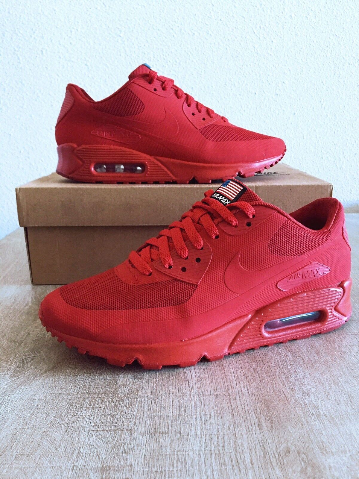 pretty nice b9ae8 8d270 ... cheap nike air 90 max 90 air hyperfuse independence day a qs sport red  7.5 40eur