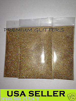 Gold Holographic Extra Fine 0.008 Glitters Powder Dust Nail Art Holo Loose Lot