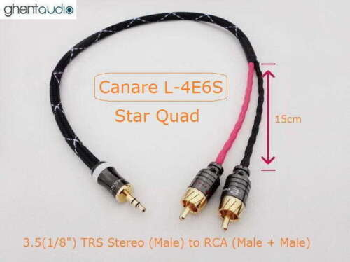 TRS ---3.5mm Jack AUX Stereo to Dual 2RCA 2m 6.5ft m m 1//8/' B01 for ipod//mp3