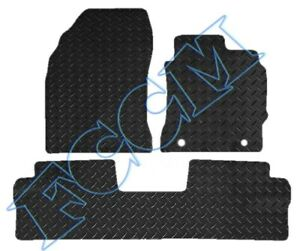 Toyota Auris 2007 to 2013 Tailored Black Car Floor Mats Carpets 4pc Set 2 Clips