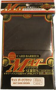 80-Kmc-Mat-Dark-Brown-Card-Barrier-Japanese-Deck-Protectors-MTG-Magic-Pokemon