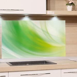 Details zu Küchenrückwand Grün Glas ESG Spritzschutz Herd Küche Glaswand  Retro