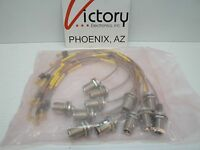 Lot Of (12) Flexible Cables End Types: Right Angle Mcx To N Type Female 14