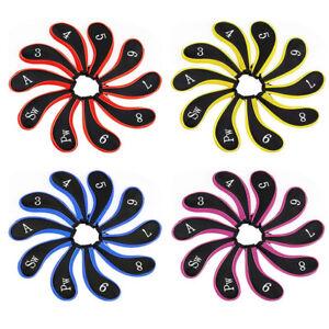 10pcs-Sleeve-Neoprene-Zippered-Golf-Club-Iron-Putter-Headcovers-Head-Cover