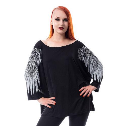 Poizen Industries Gothic Alternative Black Mutiny Gothic Womens Long Sleeve Top