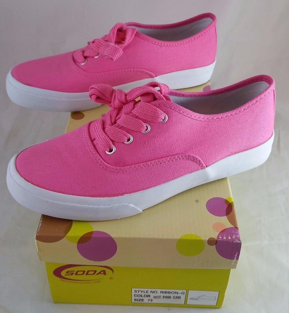 Soda Ribbon - G Tennis Women's Pink Canvas Sneaker / Tennis G Shoe 2cd942