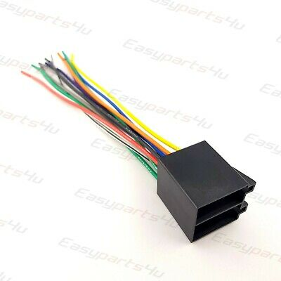 details about universal iso car radio adapter female socket car stereo wire  harness connector