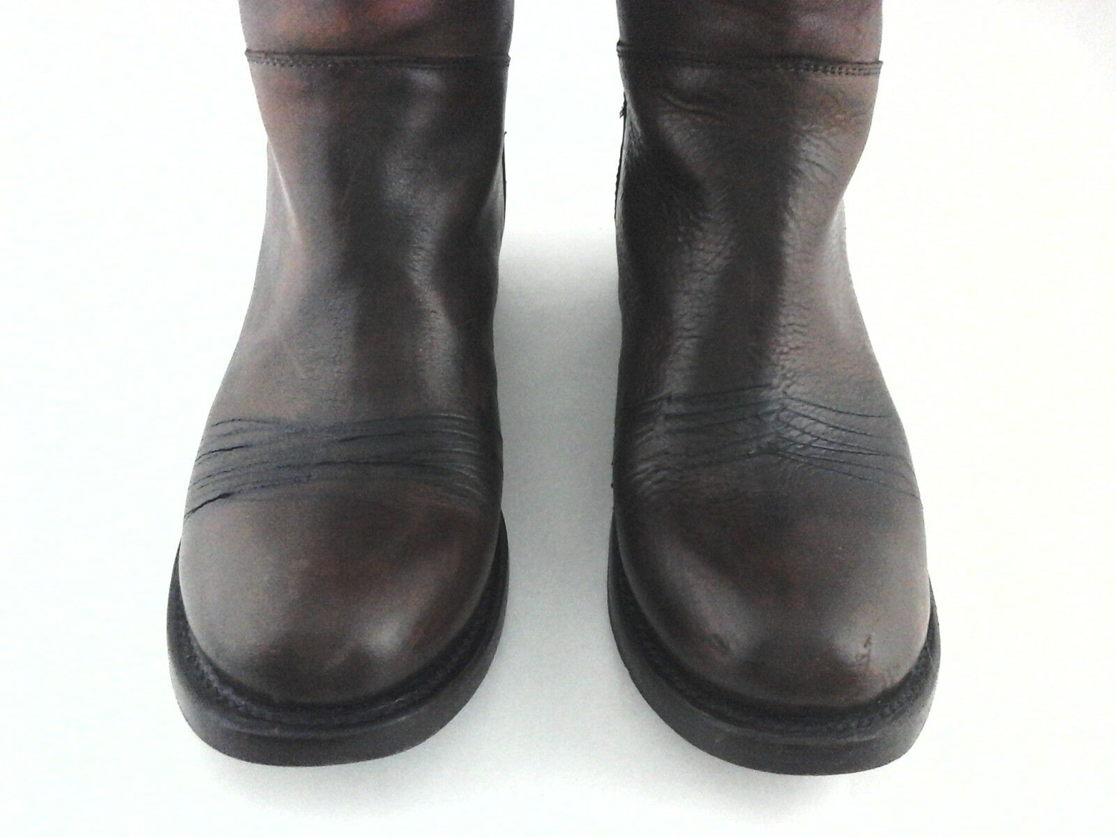 ASH Tall Riding Boots Zip Handmade Brown Brown Brown 3563 Leather Women's US 8 EU 38.5  420 b88a54