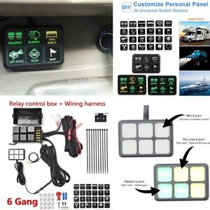 Wondrous 6 Switch Panel Relay Control Box Wiring Harness For Vehicle With Wiring Digital Resources Hutpapmognl