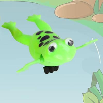 Baby Kids Bath Toy Clockwork Wind Up Plastic Swimming Frog Pool Bath for Kids