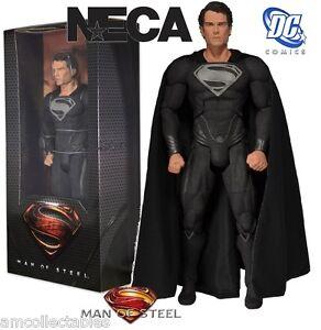 NECA-Dc-Comics-Man-of-Steel-Black-Suit-Superman-1-4-Scale-Figure-New-IN