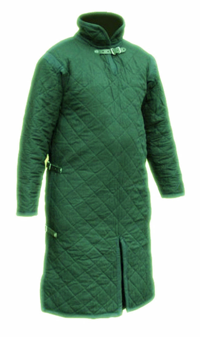Medieval Viking Gambeson Full Sleeves in Green /Cotton Gambeson Renaissance