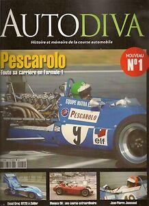 AUTODIVA-1-PESCAROLO-F1-RENE-BONNET-F2-F3-1964-DOME-COSWORTH-1979-GP-MONACO-1956