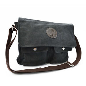 Music-Note-Canvas-Messenger-Bag-with-Shoulder-Strap-School-Carry-Case-Black