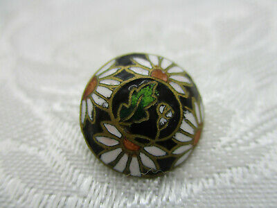 """Vintage Japanese Cloisonne Button Red with Gold Peacock 11//16/"""" NOS"""