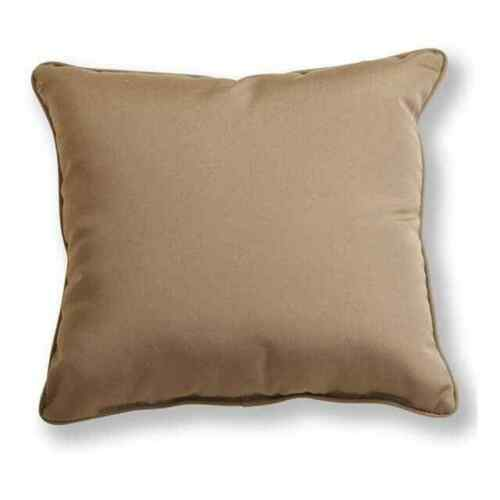 Indoor 18 inch Piped Throw Pillows 22 Colors Sunbrella Patio Furniture Outdoor