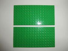 LEGO BASICS  2 Bauplatten in GRÜN  8x16  Noppen / beidseitig bebaubar  NEUWARE