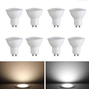 4x-8x-Dimmable-GU10-Cree-LED-Ampoules-Spotlight-Lamp-Bulb-5W-6W-Warm-White-Blanc