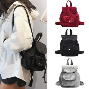 Image Is Loading Women Velvet Mini Backpack S School Bags Small