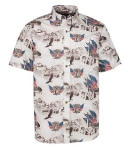 NEW American Legacy Men/'s July 4th US Monuments Print Shirt Size Medium