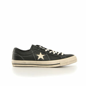 CONVERSE ONE STAR OX LEA DISTRESSE SCARPE FREE TIME UNISEX 158989C