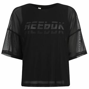 Reebok-Womens-Workout-Mesh-T-Shirt-Short-Sleeve-Performance-Tee-Top-Sleeveless