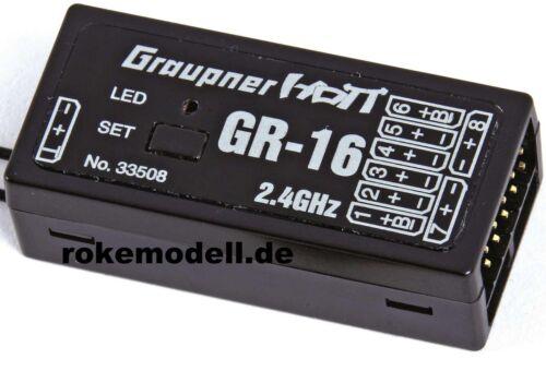Graupner 33508 GR-16 HoTT Empfänger für 8 Servos 2,4 GHz telemetriefähig