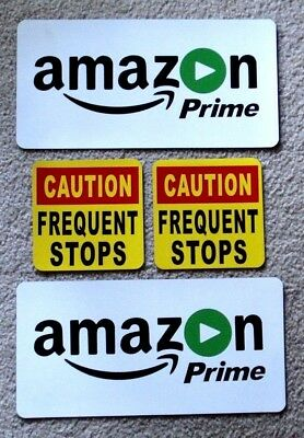 2 UBER  Logo Magnetic CAR VEHICLE SIGNS 8x8  /&  2 Caution Frequent Stops 5x5
